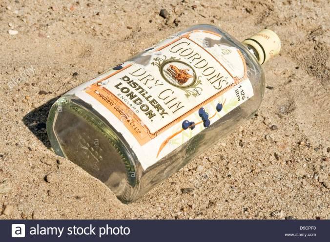 empty-gin-bottle-on-the-beach-empty-gin-bottle-on-the-beach-D9CPF0